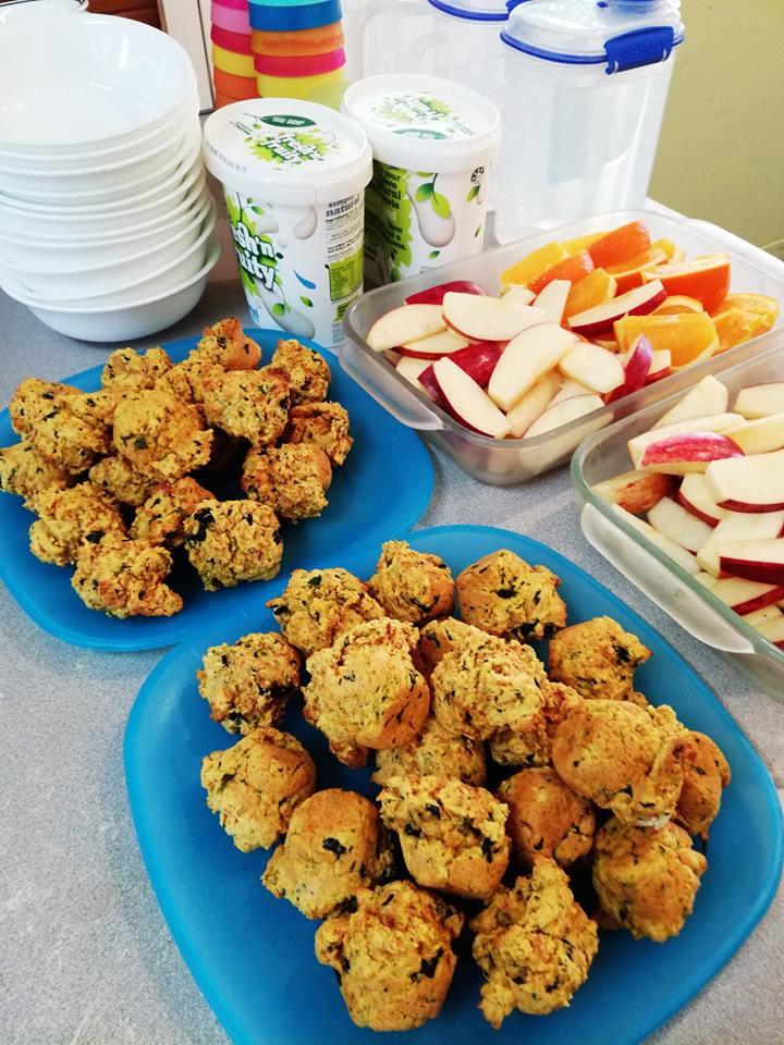 muffins fruit & yoghurt